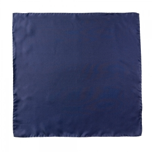 Silk Pocket Square Navy