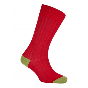Red And Green Cotton Socks