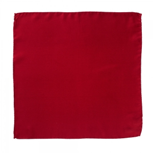 Silk Pocket Square Red