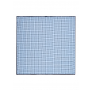 Blue Dogtooth Silk Pocket Square
