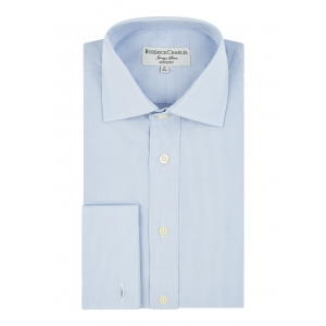 Blue Microcheck Shirt