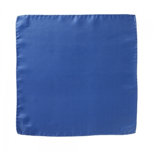 Silk Pocket Square Blue