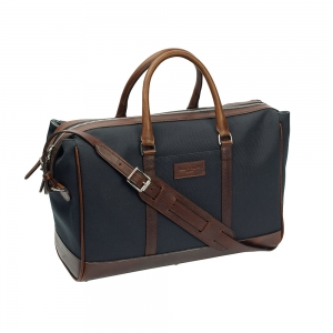 Navy Canvas Overnight Bag