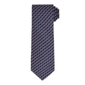 Navy and Pink Chain Tie