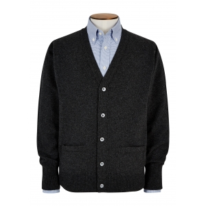 Charcoal Lambswool Cardigan