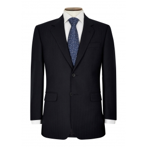 navy herringbone tailored suit