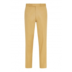 Made To Order Beige Cotton Twill