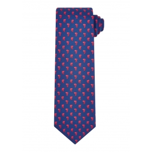 Navy and Red Elephant Tie