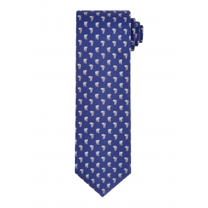 Navy and Sky Elephant Tie