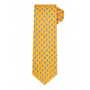 Yellow Elephant Tie