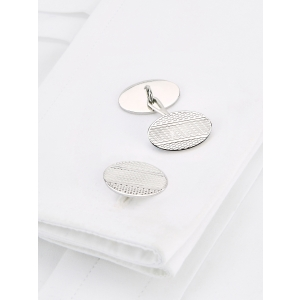 Embossed Stripe Cufflinks
