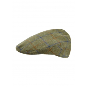 Green, Rust and Navy Flat Cap