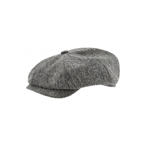 Grey Herringbone Cap