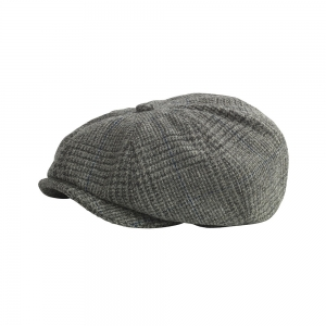 Grey Glen Check Tweed Cap