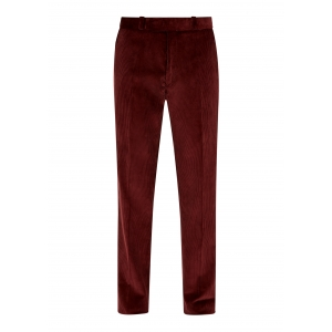 Maroon Made To Order Corduroy Trousers
