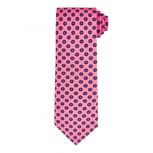 Pink and Blue Hexagon Tie
