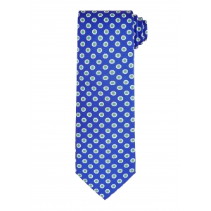 Royal and Sky Hexagon Tie