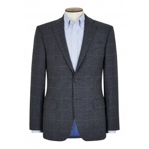 Tailored Fit Charcoal Window Pane Jacket