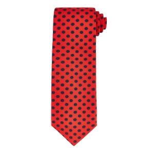 Red and Navy Polka Dot Tie