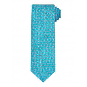 Pale Blue Link and Square Tie