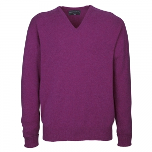 Loganberry Cashmere V Neck