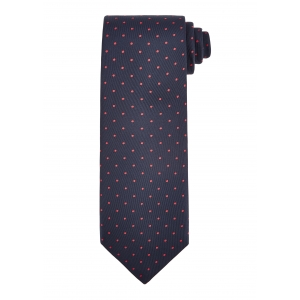 Navy and Red Medium Spot Tie