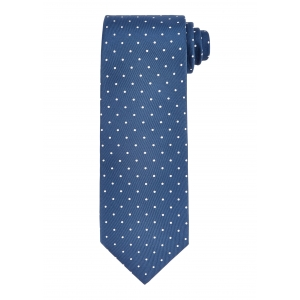 Blue and White Medium Spot Tie