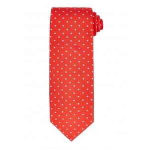 Red and White Medium Spot Tie