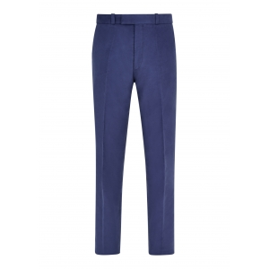 Blue Made To Order Moleskin Trousers