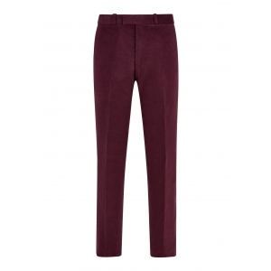 Burgundy Red Made To Order Moleskin Trousers