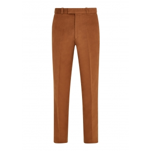 Tan Made To Order Moleskin Trousers