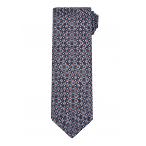 Blue and Purple Mosaic Tie