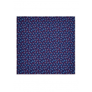 Navy Anchors and Oars Silk Pocket Square
