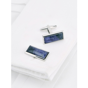 Navy Oblong Sodalite Cufflinks