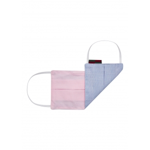 Stripe Pink Blue Flat Mask