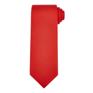 Plain Red Silk Tie