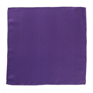 Silk Pocket Square Dark Purple