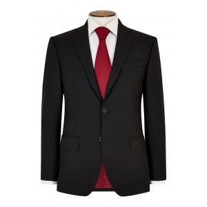 Tailored Fit Black Hopsack Suit