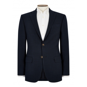 Tailored Fit Navy Basketweave Jacket
