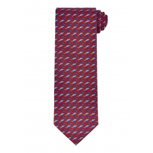 Red and Navy Shark Tie
