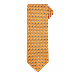 Rust and Navy Shark Tie
