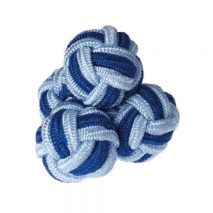 Navy & Blue Silk Knots