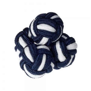 Navy & White Silk Knots