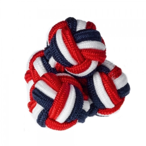 Red, White & Blue Silk Knots