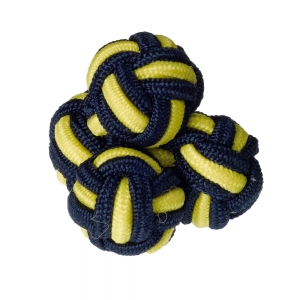 Navy & Yellow Silk Knots