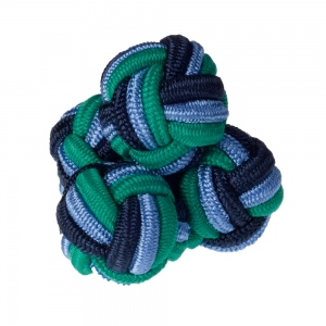 Navy/Blue/Green Silk Knots