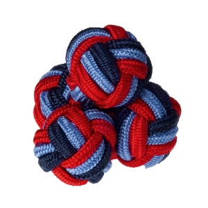 Navy/Blue/Red Silk Knots