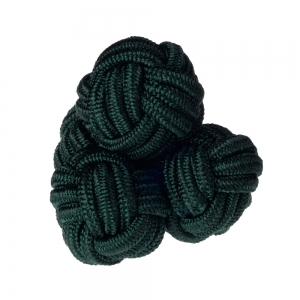 Dark Green Silk Knots