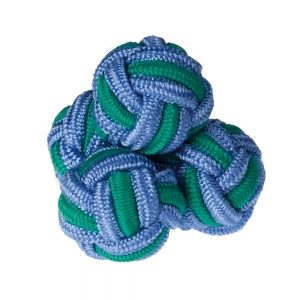 Blue/Green Silk Knots