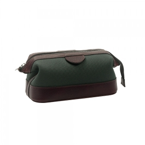 Green Canvas Washbag